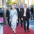 La reine Margrethe II de Danemark se joignait au prince Frederik et à la princesse Mary pour l'inauguration de la Maison de l'Industrie à Copenhague le 10 juin 2013