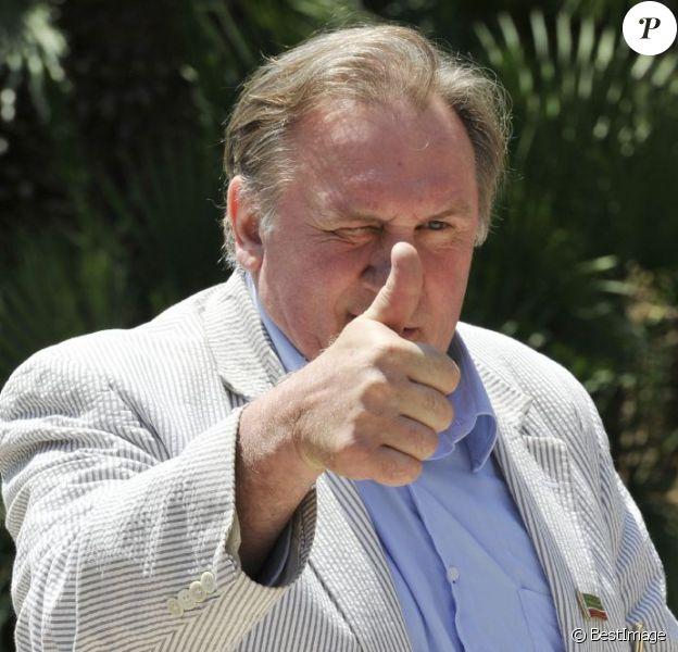 Gérard Depardieu à Nice le 6 juin 2013 pour présenter le Festival du film russe de Nice, du 14 au 17 juin.