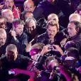 Johnny Hallyday à Paris-Bercy en juin 2013 pour ses 70 ans