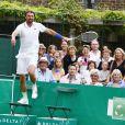 Goran Ivanisevic à l'occasion du BNP Paribas Tennis Classic qui se déroule au très sélect club de Hurlingham de Londres le 19 juin 2013