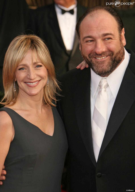 Edie Falco et James Gandolfini complices aux Screen Actors Guild Awards à Los Angeles, le 27 janvier 2008.