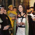 Anna Mouglalis lors de l'inauguration de la Commanderie du Bontemps du Médoc durant la fête de la fleur en clôture de Vinexpo le 20 juin 2013 à Bordeaux