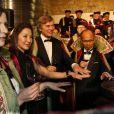 Anna Mouglalis, Carole Bouquet et Michelle Yeoh lors de la cérémonie de la Commanderie du Bontemps du Médoc durant la fête de la fleur en clôture de Vinexpo le 20 juin 2013 à Bordeaux