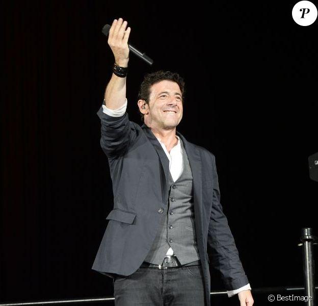 Patrick Bruel en concert à Bercy à Paris le 22 juin 2013.