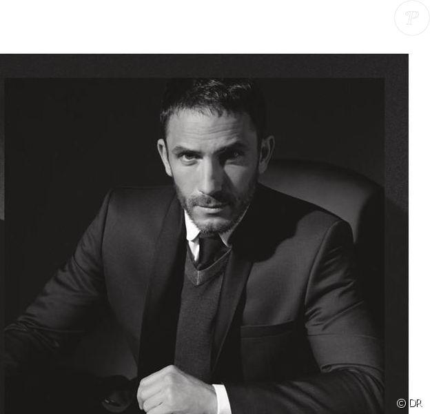 Sébastien Jondeau photographié par Karl Lagerfeld pour la campagne automne-hiver 2013 de Lagerfeld, une des deux marques éponymes du créateur.