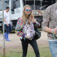 Cara Delevingne lors du festival de Glastonbury, Worthy Farm, Angleterre, le 28 juin 2013.
