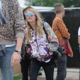 Cara Delevingne au festival de Glastonbury, Worthy Farm, Angleterre, le 28 juin 2013.