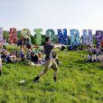 Ambiance au festival de Glastonbury, Worthy Farm, Angleterre, le 27 juin 2013.