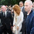 Rihanna arrive au Grand Palais pour assister au défilé Chanel haute-couture automne-hiver 2013/2014. Paris, le 2 juillet 2013.
