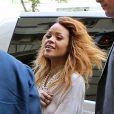 Rihanna de retour à l'hôtel Royal Monceau après le défilé Chanel. Paris, le 2 juillet 2013.