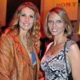 Sophie Thalmann et Sylvie Tellier à la soirée Sony Style à la boutique Sony (39 avenue George V), à Paris le 2 juillet 2013.
