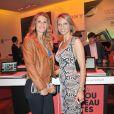 Sylvie Tellier et Sophie Thalmann à la soirée Sony Style à la boutique Sony (39 avenue George V), à Paris le 2 juillet 2013.