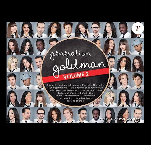 Pochette de Génération Goldman 2, dans les bacs le 26 août 2013.