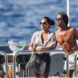 Exclusif - Tamara Ecclestone et son mari Jay Rutland profitaient de leurs vacances sur le luxueux bateau Diamonds are for ever, le 27 juin 2013 à Capri