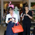 """The Kardashian Klan are out filming another episode of """"Keeping Up With The Kardashians"""" in Calabasas. Mommy Kris Jenner shopped at a kids store with her daughters Kourtney, Khloe, Kendall, and Kylie. A missing Kim was not present and was taking care of her newborn baby North. Calabasas, CA, USA on July 5, 2013. Photo by AKM-GSI/ABACAPRESS.COM06/07/2013 - Calabasas"""