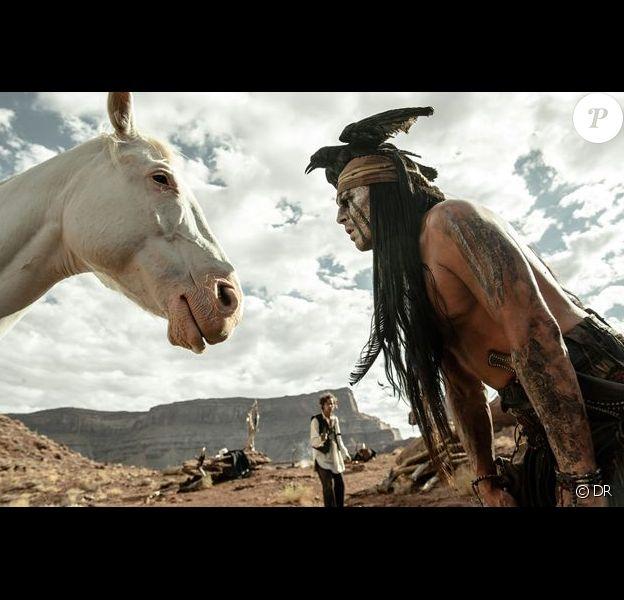 Johnny Depp dans le film Lone Ranger