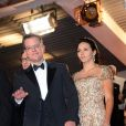 Matt Damon et sa femme Luciana Barroso lors du Festival de Cannes 2013