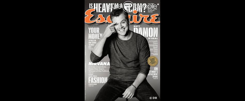 Matt Damon en couverture du magazine Esquire - août 2013