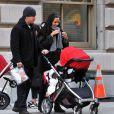 Matt Damon avec sa famille à New York le 1er novembre 2013