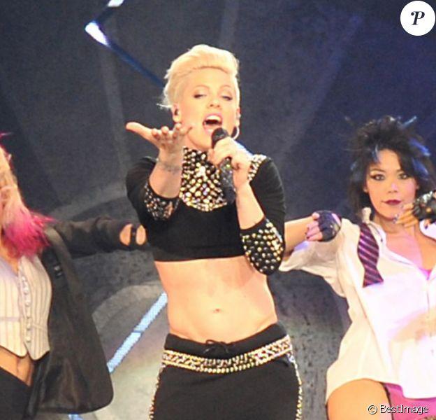 Pink, lors d'un concert à Stockholm, le 26 mai 2013, dans le cadre de la tournée The Truth About Love Tour.