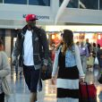 Khloe Kardashian et Lamar Odom à l'aéroport de JFK de New York, le 19 juin 2012.