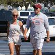 Britney Spears et son petit ami David Lucado vont faire des courses à Fillmore, le 4 juillet 2013.