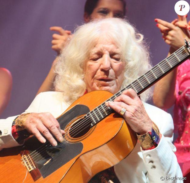 Manitas de Plata lors de la soirée organisée par Chico Castillo à l'Olympia, le 31 octobre 2012.