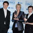 Cory Monteith, Jane Lynch et Chris Colfer aux People's Choice Awards à Los Angeles, le 5 janiver 2011.
