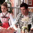 "Dianna Agron et Cory Monteith dans ""Glee"", saison 1 (2009 - 2010)."