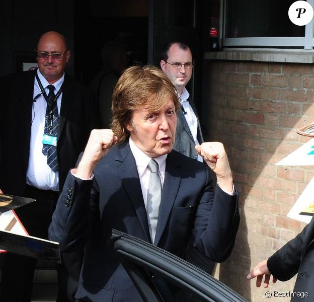 Paul McCartney au Liverppol Institute for Performing Arts, le 25 juillet 2013.