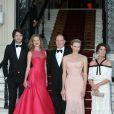 Antoine Arnault, Natalia Vodianova, Le Prince Albert II de Monaco, La Princesse Charlene de Monaco, la Princesse Caroline de Hanovreau Love Ball organisé à l'Opéra Garnier à Monaco le 27 juillet 2013.