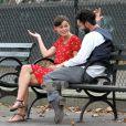 Keira Knightley et Adam Levine sur le tournage de Can a Song Save Your Life? dans le Lower East Side à Manhattan. New York, le 28 juillet 2013.