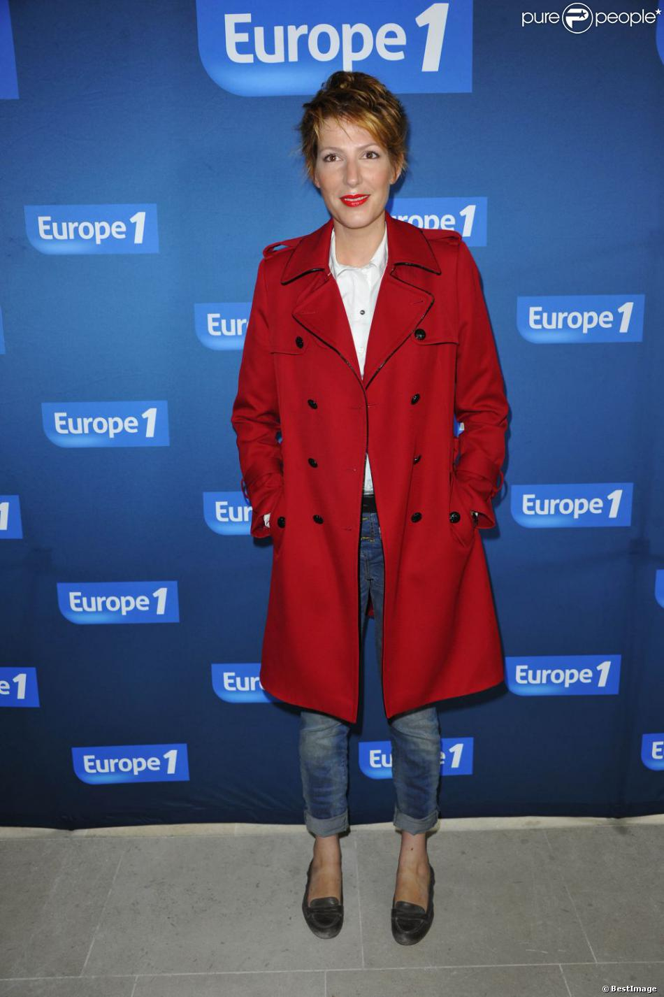 Natacha Polony à la conférence de presse de rentrée d'Europe 1 à Paris, le 3 septembre 2012.