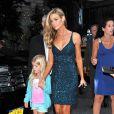 Denise Richards, son ex-mari Charlie Sheen et leur fille Lola à New York, le 25 juin 2012.