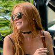 Lindsay Lohan se rend dans les locaux d'Oprah Winfrey pour enregistrer sa télé-réalité, à New York, le 5 août 2013.