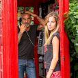 Exclusif - Christian Audigier et sa superbe fiancée Nathalie Sorensen en vacances à Londres, le 5 août 2013.
