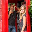 Exclusif - Christian Audigier et sa fiancée Nathalie Sorensen en vacances à Londres, le 5 août 2013.