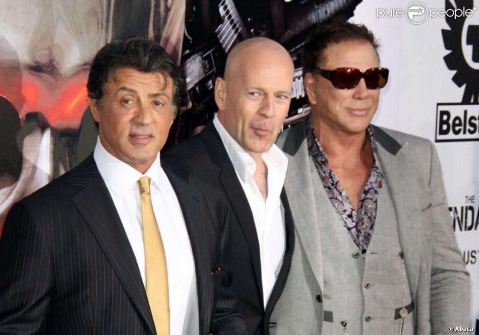 Sylvester Stallone et Bruce Willis à Los Angeles, le 3 août 2010.