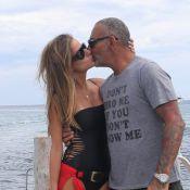 Christian Audigier et sa belle Nathalie Sorensen: Amoureux et câlins à St-Tropez