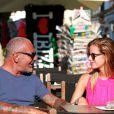 Exclusif - Christian Audigier et sa compagne Nathalie Sorensen à Ibiza, le 8 juillet 2013
