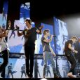 One Direction sur scène au Target Center de Minneapolis, Minnesota, USA, le 18 juillet 2013.