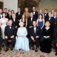 La famille royale rassemblée à Clarence House pour les noces de diamant de la reine Elizabeth II et du duc d'Edimbourg, en novembre 2007