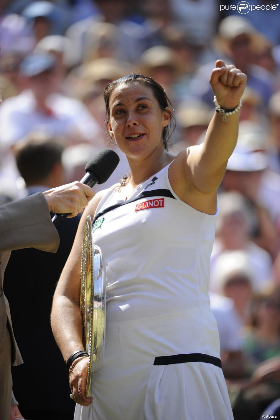 Marion Bartoli remporte Wimbledon à Londres, le 6 juillet 2013.