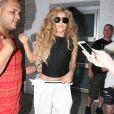 Lady Gaga quitte un studio photo à New York, le 20 août 2013.