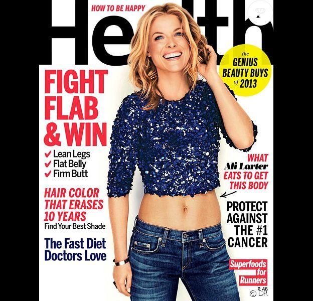 Ali Larter en couverture du magazine Health, daté du mois de septembre 2013.