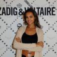 Karine Le Marchand à l'ouverture de la boutique Zadig & Voltaire à Paris, le 1er juillet 2013. L'animatrice présente L'amour est dans le pré sur M6.