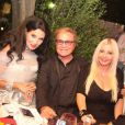 Monika Bacardi et Orlandoà l'anniversaire de Massimo Gargia aux Moulins de Ramatuelle le 21 août 2013.