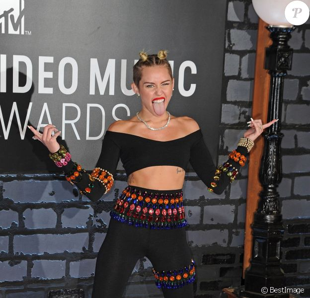 Miley Cyrus  lors des MTV Video Music Awards à New York, le 25 août 2013.