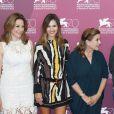 Martina Gedeck, Virginie Ledoyen et Carrie Fisher lors du photocall du jury au Palazzo del Casino à Venise, le 28 août 2013.