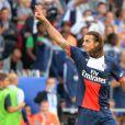 Zlatan Ibrahimovic lors de la rencontre de Ligue 1 entre le PSG et Guingamp (2-0), au Parc des Princes, le 31 août 2013.